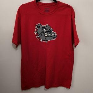 Champion Gonzaga Bulldogs Red Graphic Logo Tee